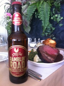 Ramblin' Road Country Ale and the Prime Rib Dinner